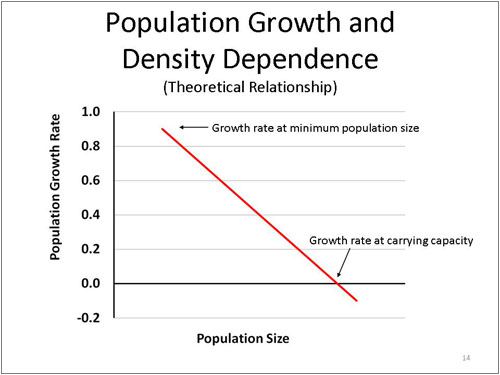Figure 14. Population Growth and Density Dependence